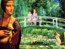 + DETALHES DA OBRA Da Vinci+Monet+Renoir (As meninas sobre a Ponte)