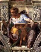 + DETALHES DA OBRA Profeta Daniel- Detalhe de afresco da Capela Cistina