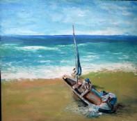 + DETALHES DA OBRA Barco na Praia