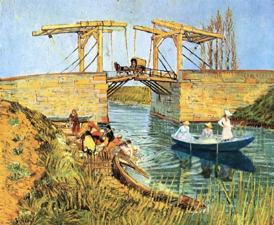 CLIQUE PARA AMPLIAR A OBRA Van Gogh+ Monet ( Mulheres Pescando no Rio)