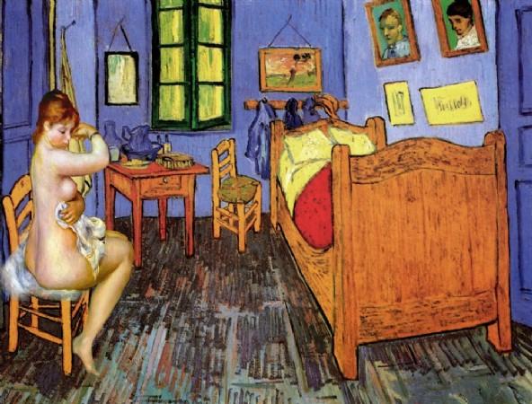CLIQUE PARA AMPLIAR A OBRA Van Gogh+ Renoir (A Banhista no quarto)