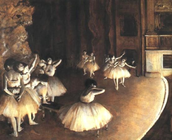 CLIQUE PARA AMPLIAR A OBRA Ensaio de um balet no palco