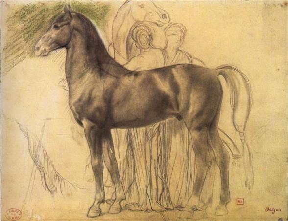 CLIQUE PARA AMPLIAR A OBRA Estudo de cavalo com fuguras