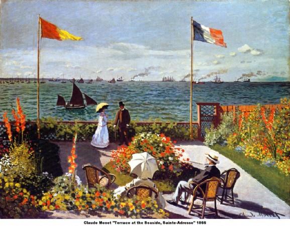 CLIQUE PARA AMPLIAR A OBRA Terra�oao lado do mar em Saint Adresse